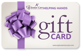 Helping hands gift cards by A+ Senior Care, LLC.